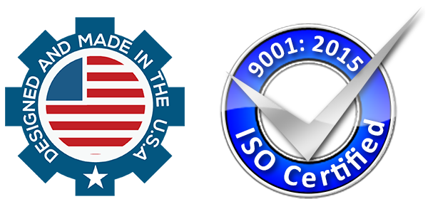 Made in the USA Logo and ISO Logo